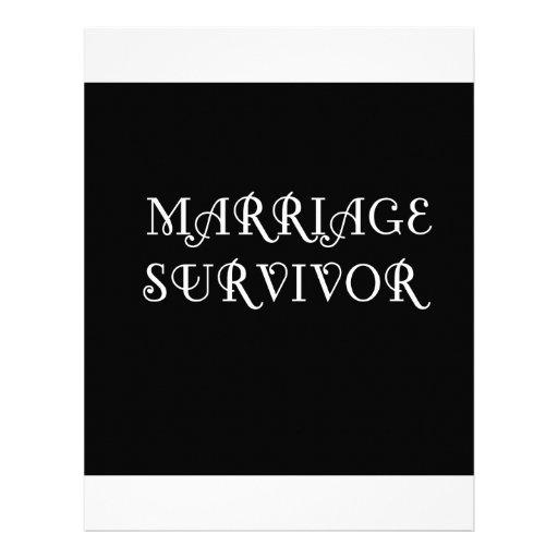 Marriage Survivor - 3 - White Letterhead Design
