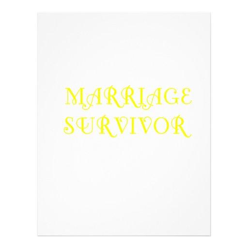 Marriage Survivor - 3 - Yellow Letterhead Design