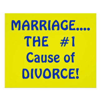 MARRIAGE....THE  #1 Cause of DIVORCE! Poster