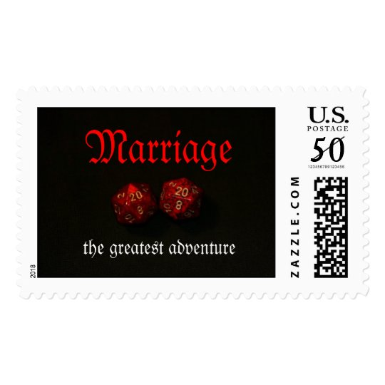 Marriage, the greatest adventure postage