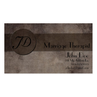 Marriage Therapist Business Card Template