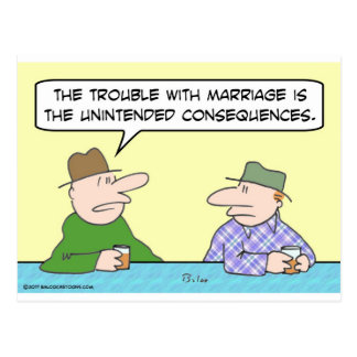 marriage unintended consequences postcards