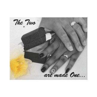 Marriage Unity Love... Canvas Print