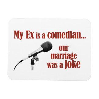 Marriage was a joke rectangular photo magnet