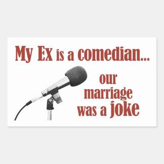 Marriage was a joke rectangular sticker
