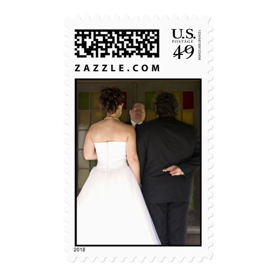 Marriage with Crossed Fingers Stamp