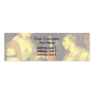 Marriage with Vesta and Hymen by Titian Double-Sided Mini Business Cards (Pack Of 20)