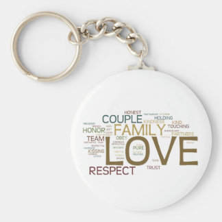Marriage Word Cloud Keychains