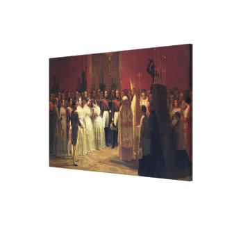 Marriages of Queen Isabella II Canvas Print