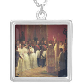Marriages of Queen Isabella II Silver Plated Necklace