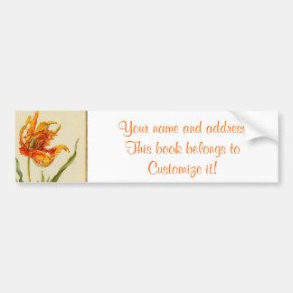 Marriane North Tulip Bumper Sticker