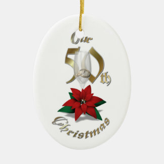 Married 50th Christmas Ornament