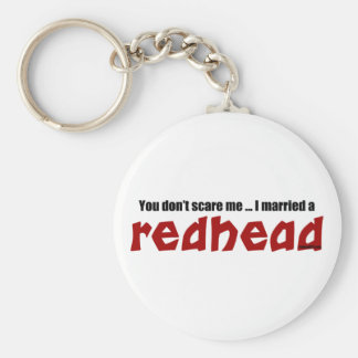 Married a Redhead Basic Round Button Keychain