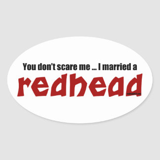Married a Redhead Oval Sticker