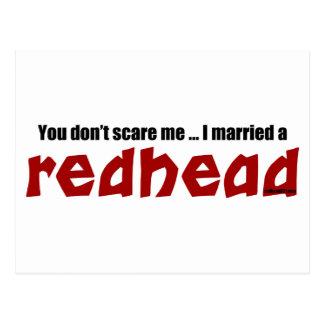 Married a Redhead Postcard