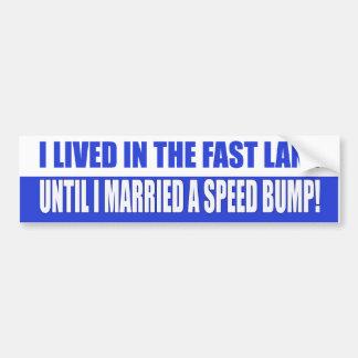 Married A Speed Bump Bumper Sticker