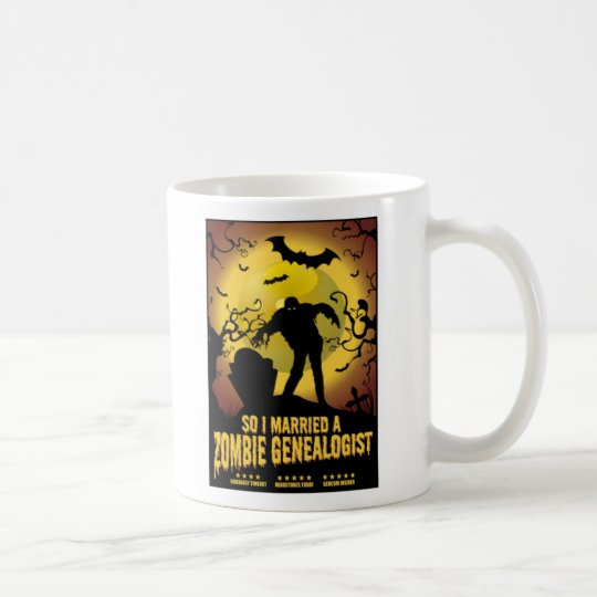Married A Zombie Genealogist Coffee Mug