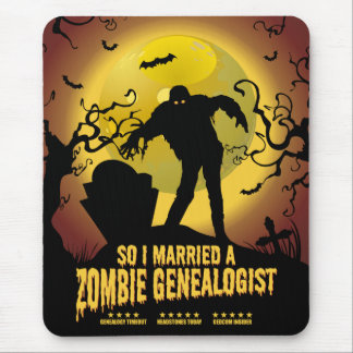 Married A Zombie Genealogist Mouse Pad