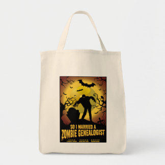 Married A Zombie Genealogist Tote Bag
