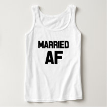 Married AF funny women's tank top