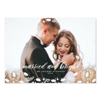 MARRIED AND BRIGHT photo holiday card