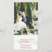 Married and Merry | Christmas Holiday Card