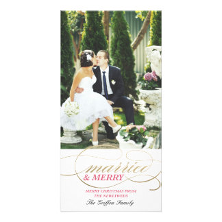 Married and Merry | Christmas Photo Card