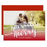 Married And Merry First Christmas Holiday Photo Card at Zazzle