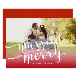 Newlywed Christmas Cards - Invitations, Greeting & Photo Cards ...