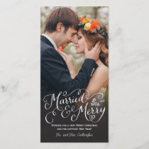 Married and Merry Hand Lettered Holiday