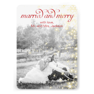 MARRIED and MERRY Holiday Flat Card