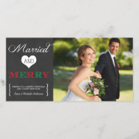 Married and Merry | Holiday Photo Card