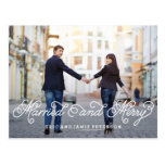 Married and Merry Holiday Photo Card Postcard