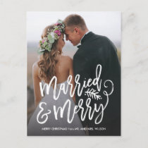 Married and Merry Holiday Thank You Photo