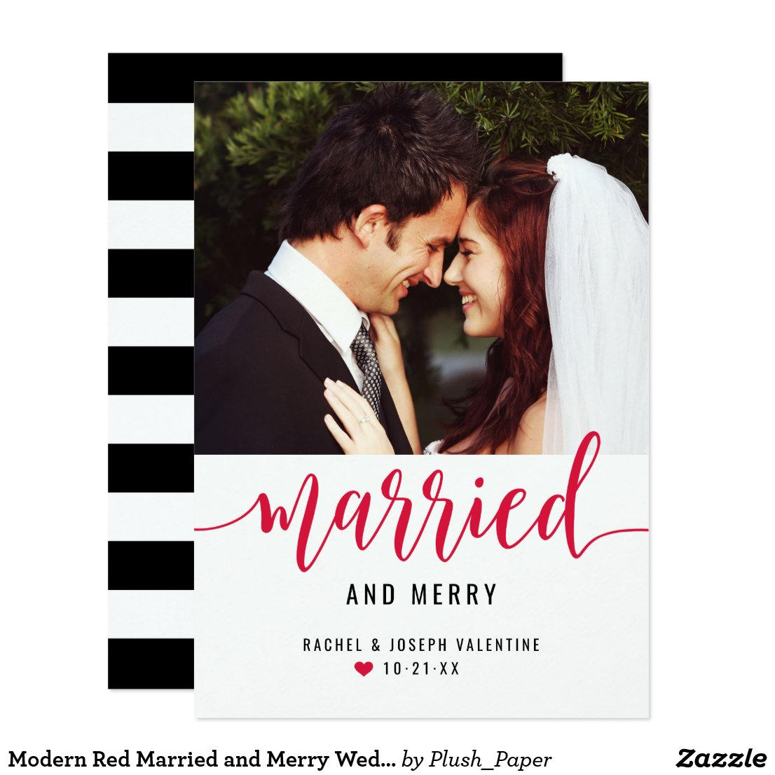 Married and Merry | Newlywed Holiday Photo Card