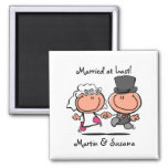 Married at last cartoon Magnet