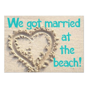 Sideview Married at the Beach Wedding Party Invitation