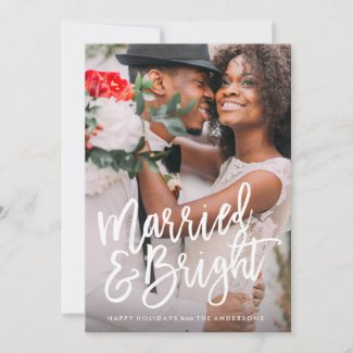 Married & Bright Brushed Holiday Overlay couples Christmas