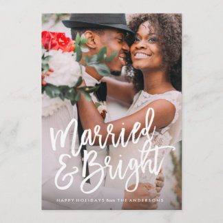 Married & Bright Brushed Holiday Overlay