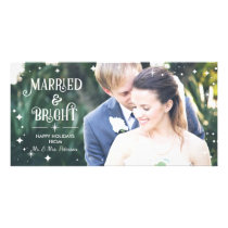 Married & Bright, Christmas Photo Card, Holidays Card