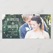 Married & Bright, Christmas Photo Card, Holidays Holiday Card