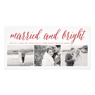 Married & Bright Couple's 1st Christmas Photo Card