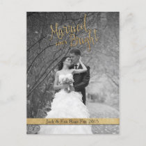 """Married & Bright"" Custom Christmas Card"