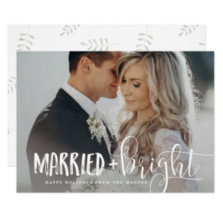 Married & Bright Holiday Photo Card