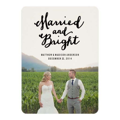 Married & Bright | Holiday Photo Card