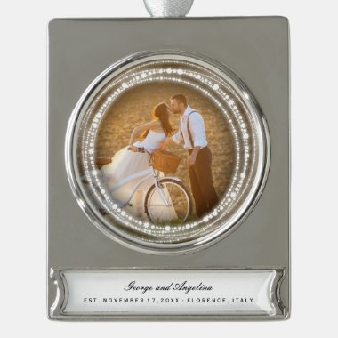 Married & Bright Sparkles 1st Christmas Ornament