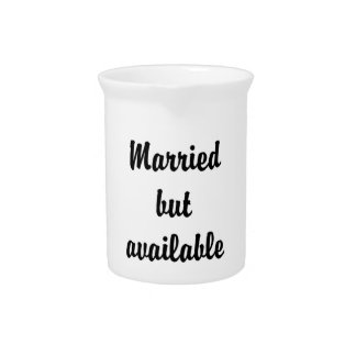 married but available beverage pitchers