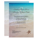 Married By the Sea Beach Destination Wedding Card