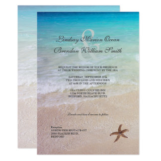 Married By the Sea Beach Destination Wedding Card