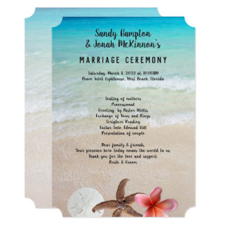 Married By the Sea Short Beach Ceremony Program